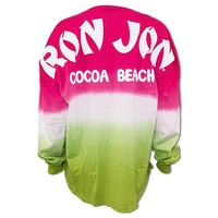 Ron Jon Ladies Tropical Ombre Football Jersey - Cocoa Beach