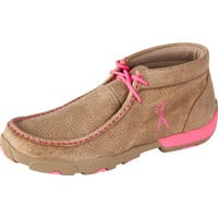 Women's Twisted X Breast Cancer Awareness Driving Moc