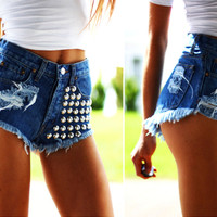 477 Studded Dreamer Cut Off Shorts