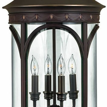 "0-018917>27""h Lucerne 4-Light Extra-Large Outdoor Post Lantern Copper Bronze"