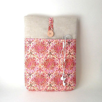 Custom Laptop Case Padded Bag 10, 11, 12, 13, 14, 15, 16,17 inch Sleeve Macbook Lenovo Sony Vaio Dell Acer HP Asus, Pink Medallion Cover Sac