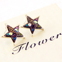 On Sale Colorful Rhinestone Pave Earrings Free Shipping