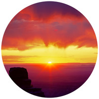 Paul Moore's Sunrise Over North Rim, Grand Canyon Circle wall decal