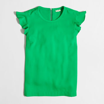 Factory flutter-sleeve top : Sleeveless | J.Crew Factory