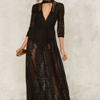Nasty Gal Perminova Maxi Dress - Black