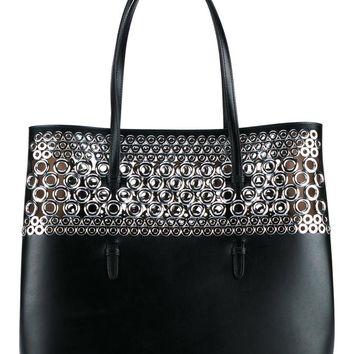 AZZEDINE ALAÏA | Leather Shoulder Bag with Eyelets | Womenswear | Browns Fashion