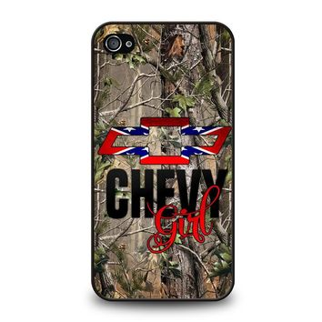 CAMO BROWNING REBEL CHEVY GIRL iPhone 4 / 4S Case Cover