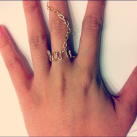 Customized/ Personalized Wire Chain Rings by LittleDistractions