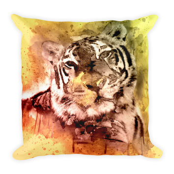 Tiger Decorative Throw Pillow 18x18