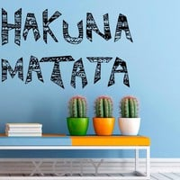 Hakuna Matata Wall Decal Quote Vinyl Stickers Home Nursery Children Room Kids Interior Design Art Murals Bedroom Decor