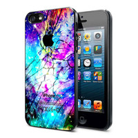 Galaxy Nebula Cracked Out Broken Glass  iPhone Case iPhone 4 Case iPhone 4S Case