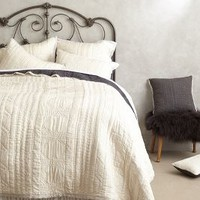 Stitched Kantha Coverlet by Anthropologie