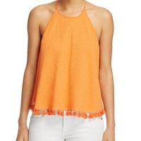 Tory Burch Lindsay Tassel Trim Top | Bloomingdales's