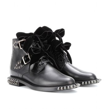 mytheresa.com -  Rangers studded leather boots  - Luxury Fashion for Women / Designer clothing, shoes, bags