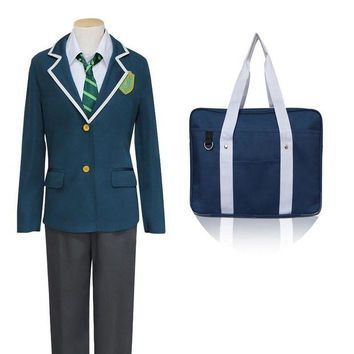 DCCKH6B Japanese Anime Makoto Shinkai New Movie Your Name Cosplay Costumes Tachibana Taki School Costume With Bag