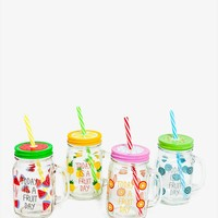 4 Piece Fruit Day Drink Cup