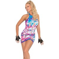California Daydream Tie Dye Mini Dress