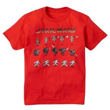 ESB7GX Star Wars Animated Characters Tee - Boys 8-20 Size