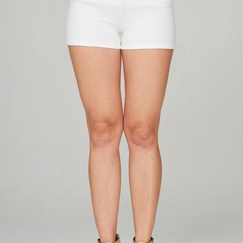 Mock Pocket Button Detail Shorts