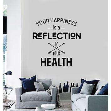 Vinyl Wall Decal Motivation Quote Words Happiness Health Stickers Mural (g1853)