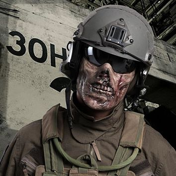 Horror Zombie Half Face Resin Mask For Halloween Masquerade Cosplay 4 Colors Outdoor CS Tactical Protective Mask