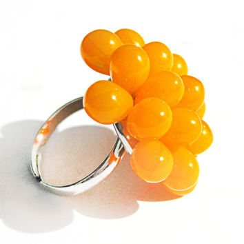 Canary Berry Cocktail Ring - Limited Edition Expandable Ring