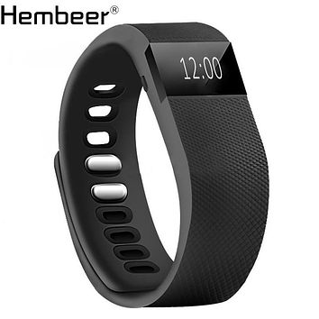 TW64 Smart Wristband Fitness Tracker Alarm Clock Vibration Smartband Step Counter Bluetooth Connectivity Bracelet