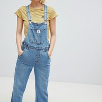 Pull&Bear denim overall in blue at asos.com