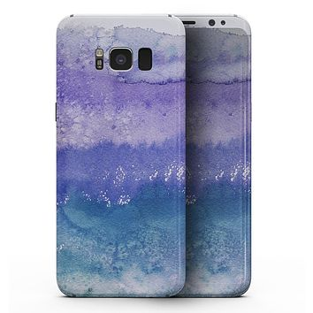 Purple 48 Absorbed Watercolor Texture - Samsung Galaxy S8 Full-Body Skin Kit