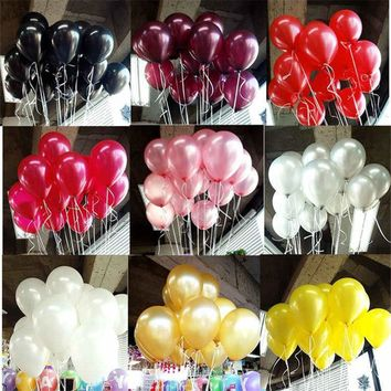Black Latex Balloons 10pcs 10 inch Latex Helium Balloon Inflatable Wedding Decorations Air Balls Happy Birthday Party Balloons
