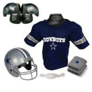 PEAPYD9 Dallas Cowboys Youth NFL Ultimate Helmet and Jersey Set