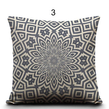 Cushion Creative Geometric bohemian pillows Polyester Square 45cm Home Decor Sofa Car Seat Decorative Throw Pillow
