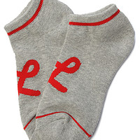LRG (Lifted Research Group) Core Collection The One Stripe No Show Socks in Ash Heather