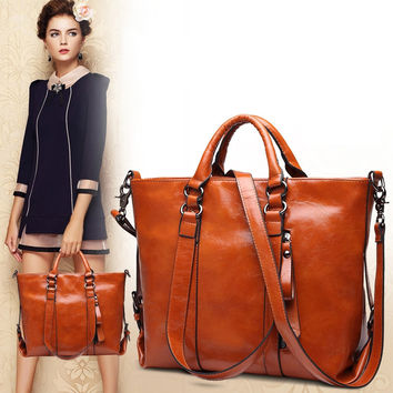 New Fashion Genuine Leather Bags Tote Leather Handbags Messenger Bag