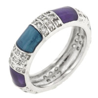 Calm Enamels Ring, size : 06