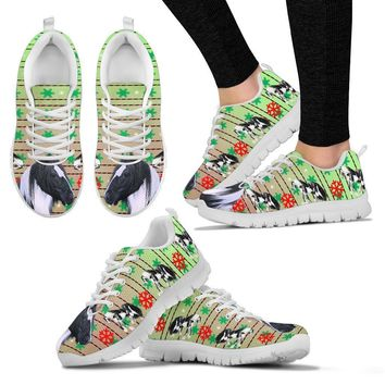 Gypsy horse Print Christmas Running Shoes For Women-Free Shipping