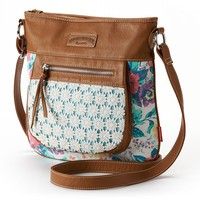 Unionbay Floral Crochet Crossbody Bag
