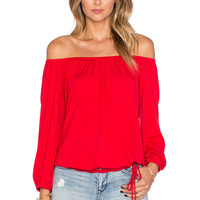 VAVA by Joy Han Judy Long Sleeve Top in Red