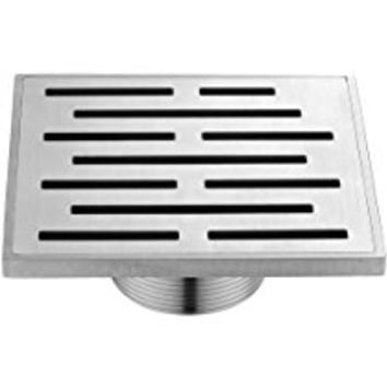Dawn SAN050504 Amazon River Series Square Shower Drain, 5-Inch