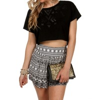 Sale-faux Leather Crop Top