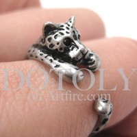 Miniature Leopard Ring in Silver Sizes 4 to 9 available | dotoly - Jewelry on ArtFire