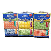 Kleenex go pack-Sneeze Shield-Multi-Color-Orange,Green,Blue,Yellow-Total 9 Individual Packets of 10-3 ply tissues in each pack
