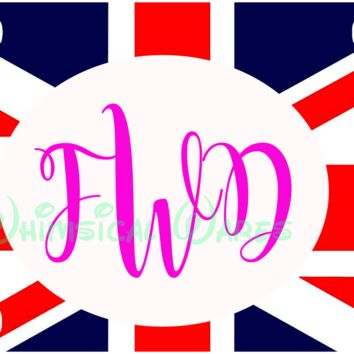 Monogrammed Union Jack Brittish Flag License Plate/Tag NEW Custom Made  FREE SHIPPING TO US