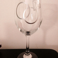 Wedding rings 20oz wine glass. Wedding wine glass bachelorette bachelor wine glass
