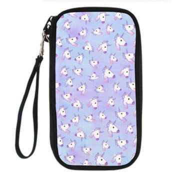 Unicorn Clutch Wallet (unicorns on purple)