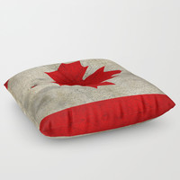 Vintage Canada Flag Floor Pillow by Smyrna