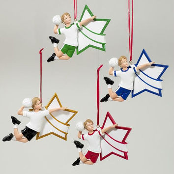 12 Christmas Ornaments - Volleyball Boy Stars