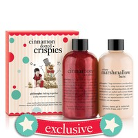 cinnamon dotted crispies | crispie marshmallow bars and cinnamon hot dots shampoo, shower gel & bubble baths 8 oz. | philosophy bath & shower gels