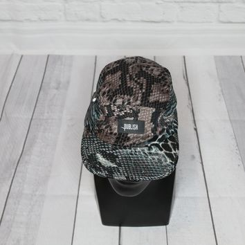 BNWT Publish 5 Panel Camper Hat Snake Print