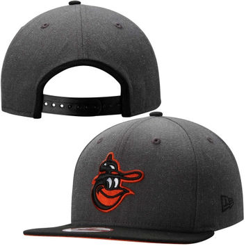 Baltimore Orioles New Era Cooperstown Originial Fit 2-Tone Action 9FIFTY Snapback Hat – Heather Gray/Orange
